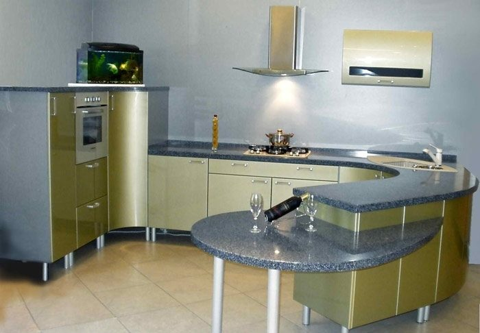 кухня овальная